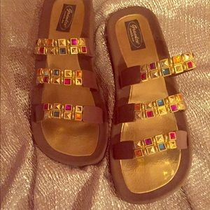 Jewel bling  sandals size 10